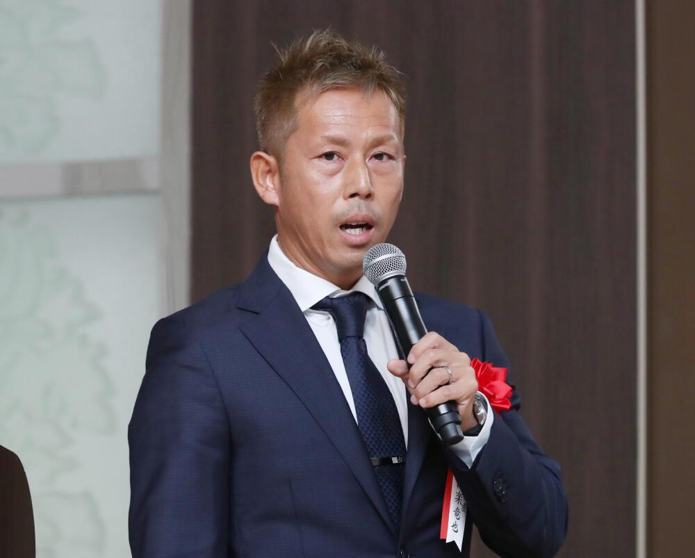 第41回 埼玉県産業振興懇談会、講演するシタラ興産の設楽竜也 代表取締役.jpg