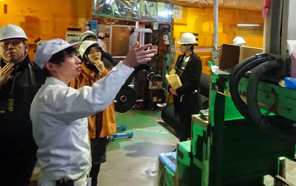 工場見学会で、会長企業である共同技研化学の富岡工場を訪問した.jpg