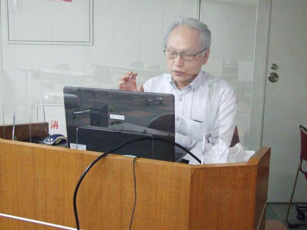 セミナーでトークセッションを行ったテクノロジー部会長の美馬徹氏.jpg